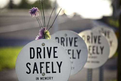 Roadside Memorials Due to Fatal Trucking Accidents