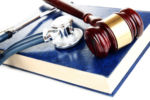 Medical Malpractice Law Book, Gavel and Stethoscope