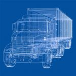 Accident Reconstructionist's Semi Truck Diagram
